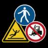 Напольные противоскользящие знаки