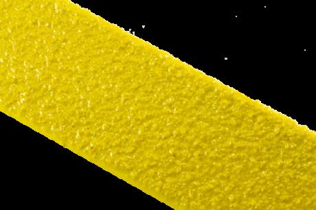 Противоскользящий профиль для краев ступеней, стеклопластик, 70х1000х30х3,8 мм, размер абразива 46 Grit, цвет желтый
