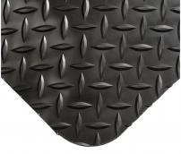 Противоусталостный мат, ромбическое рифление, цвет черный с двумя черными краями