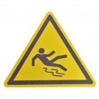 Осторожно скользкий пол - Противоскользящий напольный знак, треугольник со сторонами 600 мм