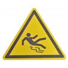 Противоскользящий напольный знак, надпись «Осторожно скользкий пол», треугольник со сторонами 600 мм