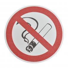 Противоскользящий напольный знак, надпись «Курение запрещено», круг с диаметром 400 мм