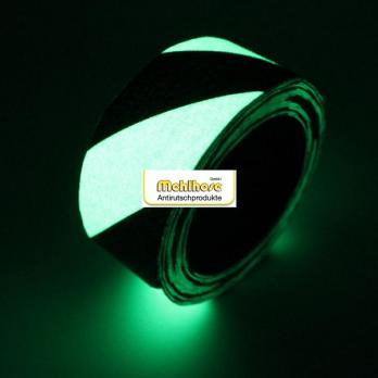 Белый с черными полосами цвет, рулон, фотолюминисцентная противоскользящая лента