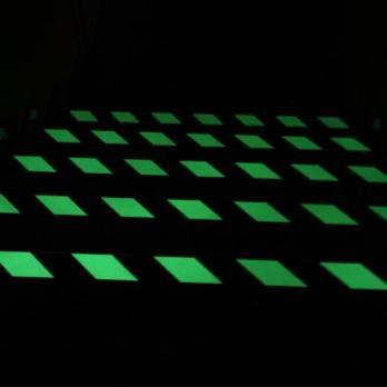 Эластичный фотолюминесцентный тип, рулон, желто-черный цвет