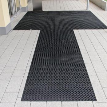 Грязезащитный резиновый мат для зон входа/выхода и проходных зон, черный цвет, 600x800 мм