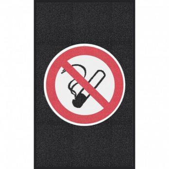Курение запрещено, черный цвет, крупное зерно