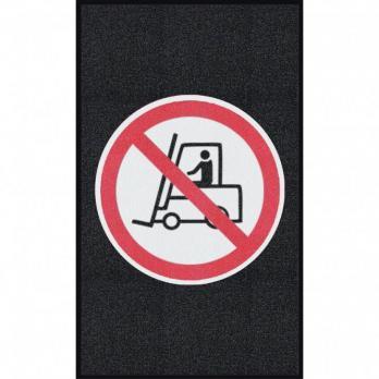 Движение погрузчика запрещено, черный цвет, крупное зерно